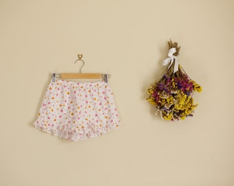 Floral Orange and Pink Frill Shorts  Lolita Summer