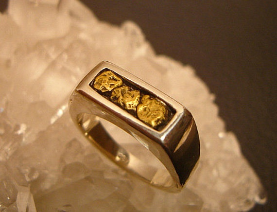 gold nugget ring gold nugget rings mens gold by