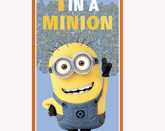1 In A Minion 24x44 panel premium cotton quilting fabric from Quilting Treasures