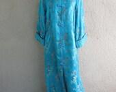 RESERVED Chinese Brocade Coat -  Mandarin Coat - Asian Jacket Coat - Chinese Tunic Dress
