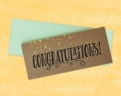Congratulations!  Foil & Lettepress printed card