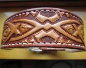 Dog collar , Celtic collar , X-large collars , large collar , pitbull collar ,  pet collar , designer collars , Leather collar