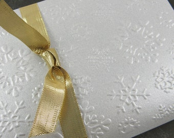 Christmas Snow Cards in Elegant Silver for the Holidays - Limited Edition Set of 4