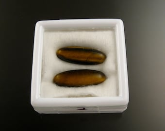 7x20mm Tigereye cabs Parcel of 2 stones parcel 2