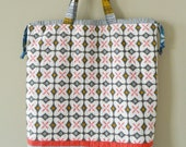 Drawstring Tote Bag  {PDF sewing pattern} - instant download, beginner friendly, easy to sew