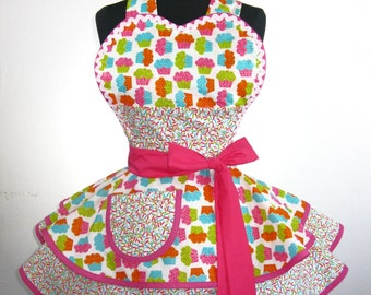 Cupcakes and Candy Sprinkles Apron -only one left in stock