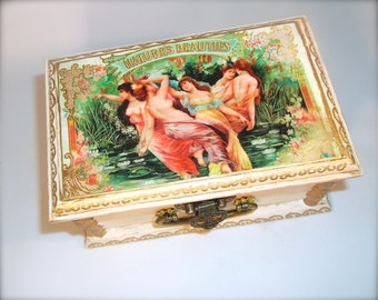 Jewelry Box Trinket Box Decorative Wood Box Natures Beauties