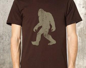 Men's Bigfoot T-Shirt - Sasquatch Shirt - Men's Screen Printed Tee - Men's Small Through XXL Available