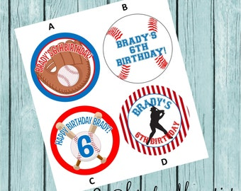 Baseball Favor Tags/Stickers