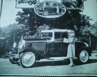 Vintage French Ad Citroen Cabriolet Automobile 1935