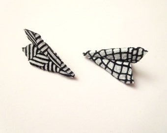 Sale One Direction earrings-Blue Paper Airplane, Harry Styles