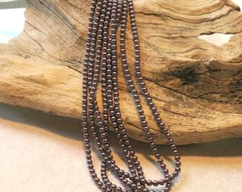 Swarovski Glass Pearls - 4mm Burgundy Pearl - Full Strand - 100 Beads