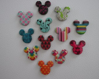 50 Mickey Mouse Magnets- perfect for Fish Extender gifts, decorate cruise ship door, wedding favors