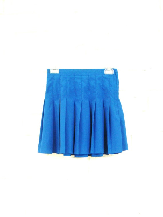 90 s royal tennis skirt vintage pleated micro mini bright