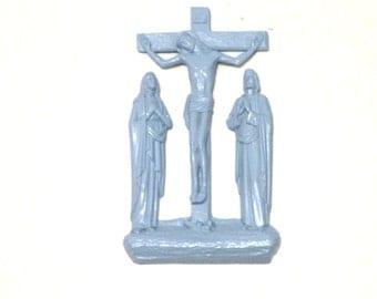 Religious Wall Hanging- Cross- READY to Ship- Reminder- BABY Blue- Catholic Cross- JESUS- Pray- Boy- Nursery Decor- Shower Gift- Saint