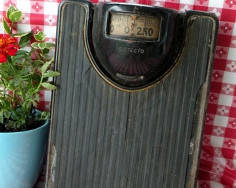 Antique Detecto Bathroom Scale- Cast Iron- 75 to 100 years old- Body Weight Scale