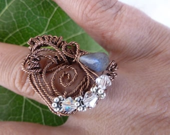 Sailor Faery OOAK ring size 7 1/2