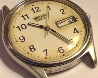 Watch Men Vintage Men's 1970's Seiko Quartz Watch