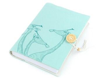 Giraffe, Journal, Notebook, Travel Journal, Travel Diary, Sketchbook, Handmade, softcover, unique gift, animal design, memopad, artistic