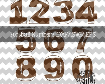 Football Numbers .DXF/SVG/.EPS File for use with your Silhouette Studio Software