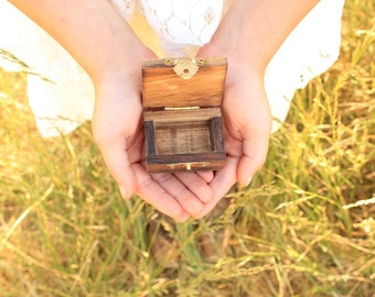 Rustic Ring Box Small Ring Box Proposal Ring Box Wood Ring Box Pocket Size Ring Box #DownInTheBoondocks