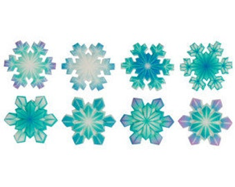 Printed Snowflakes Assortment Sugar Pieces / Decorations / Sugar Snowflakes / Cakes /Cupcakes / Frozen
