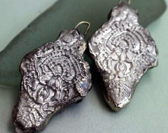 Fine Silver Filligree Droppers