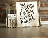 She Is Worth FAR More Than Rubies - baby/toddler quilt