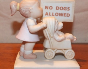 "1984 Family Circus ""Puppy Love"" Dolly & Dog Figurine"