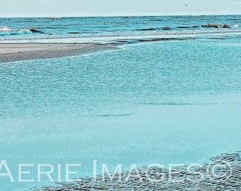 Atlantic Beach off Tybee Island, Photo Painting Effects, 8x10