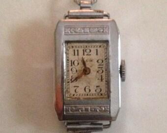 Ladies Vintage 1928 Elgin Watch - Art Deco