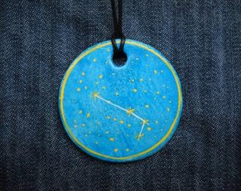 Aries Jewellrey -Zodiac pendant,Constellation Zodiac Jewellery - Astrology - Astronomy - Constellation on Blue