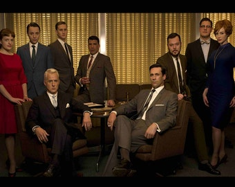 MAD MEN characters   24 x 36 inch poster   don draper   TV series   1960s