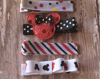 Magical Mouse Mickey Hair Clips  *Set of 6* Baby Toddler Girls