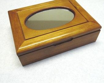 Mele Jewelry Box Mirror Top Wood