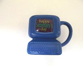 Computer Coffee Cup Mug Happy Secretary's Day Large