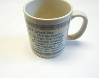 Coffee Cup Mug Serenity Prayer