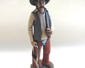 Cowboy Statue Figurine Dan Day Texas Artist 1984 Hand Crafted
