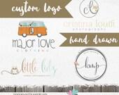 Custom Logo Design -  Custom Logos  - Hand drawn Logo Design for Photographer or business Shop