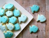 Fish Cookies  - Iced Sugar Cookies -  (2 Dozen)