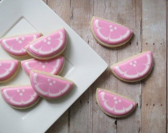 Pink Lemonade Sugar Cookies- Lemon Slice (2 Dozen)