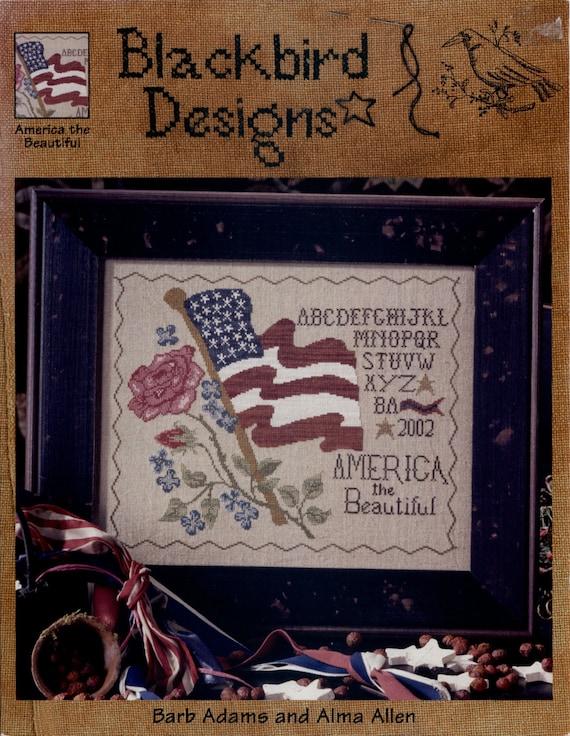 Blackbird Designs America The Beautiful Cross Stitch