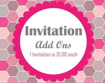 Individual Invitation Add-Ons