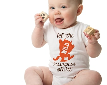 Where the Wild Things Are Baby Onesie, Let The Wild Rumpus Start!, Unique Baby Shower Gift