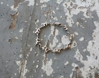 Vintage Sterling Silver Heavy Horse Link Toggle Bracelet Equestrian  Horse Jewelry