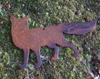 Sly LIttle Fox Rustic Ornament