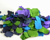 500 Peacock Color Rose Petals - Artificial Petals - Bridal Shower Wedding Decoration - Flower Girl Petals - Table Scatter - Peacock Wedding