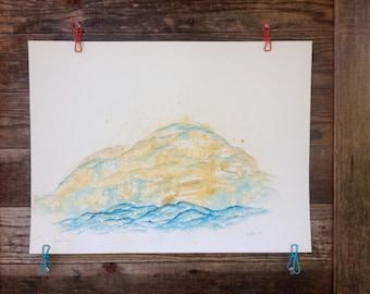 Beyond Time - Original Watercolor - 18inx24in