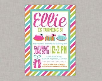 Tutu Invitation, Tutu Birthday Invitation, Ballet Birthday Invitation