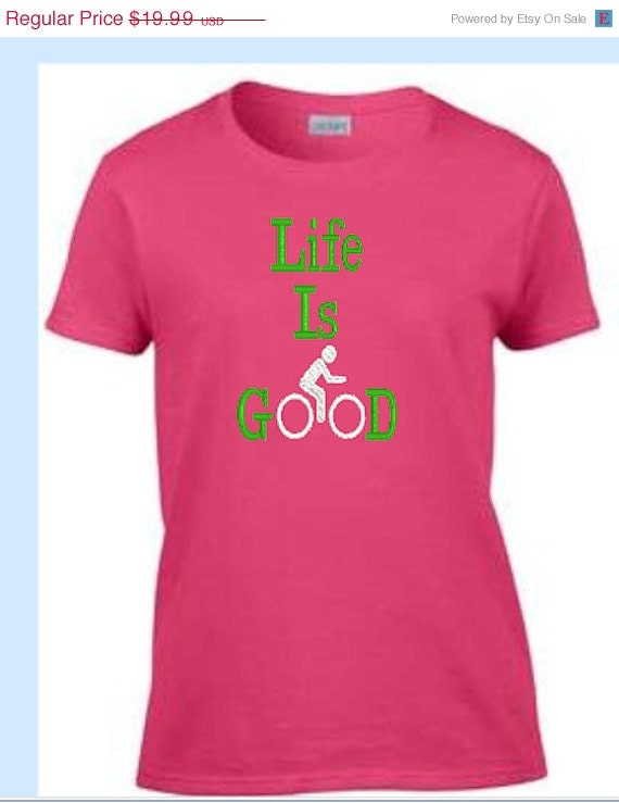 on sale women 39 s bicycle shirt life is good by